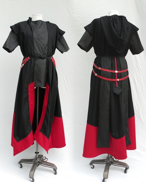 Custom Sith Style Outfit Front and Back